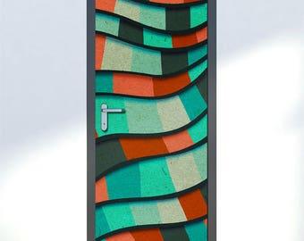 Slaapkamer Met Kunstmuur : Lego muur sticker lego muur sticker deur decor abstract art etsy