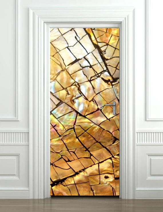 Gold Texture Wall Decal Door Sticker Door Mural Door Etsy