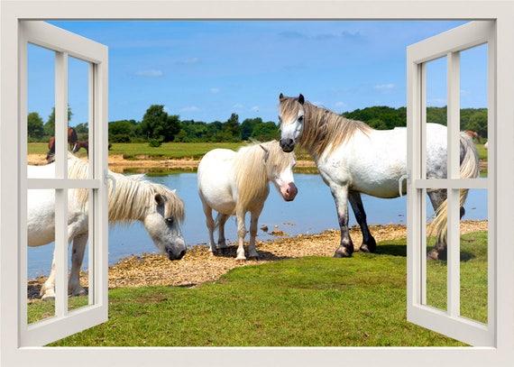 Pferde Wand Aufkleber 3d Fenster Wandtattoo