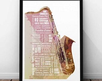Heroes of Jazz Print