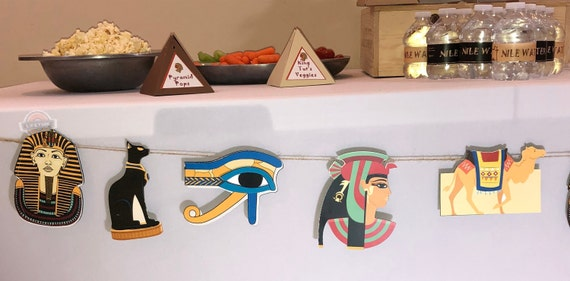 Egypt Toga Party garland/Decorations/Bunting/Birthday Party/Theme/Bat  Mitzvah/Bar Mitzvah/Sweet 16/Pharoah/Sphinx/Desert/Theme Party Queen
