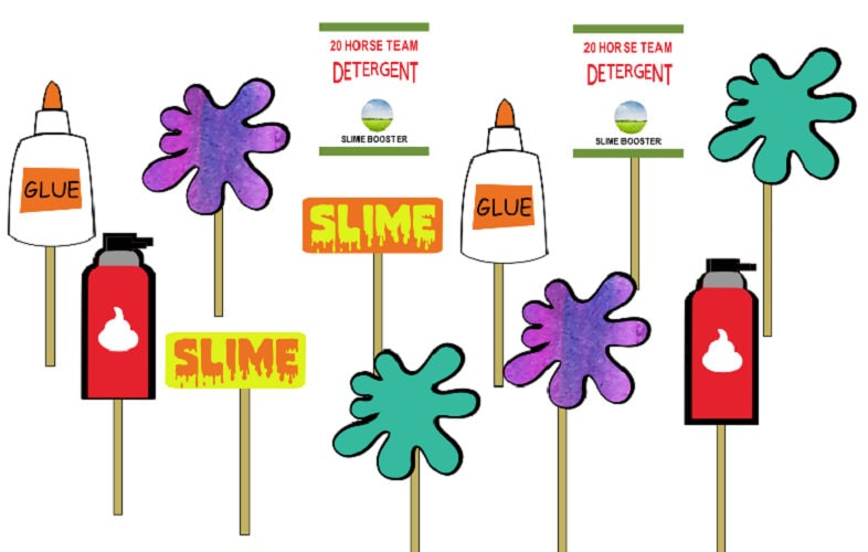 Slime party theme Dozen cupcake toppers/Food picks ...