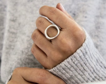Circle Ring, Sterling silver 925