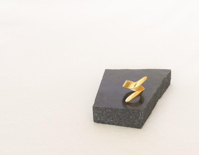 Minimalism Sterling silver ring Open Gold Ring