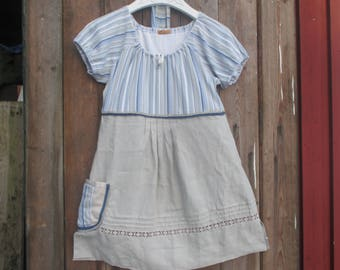 43e75a091ef Romantic tunic - Country cottage tunic - Upcycled clothes - Hippie clothing  - Shabby Chic tunic with hairband.