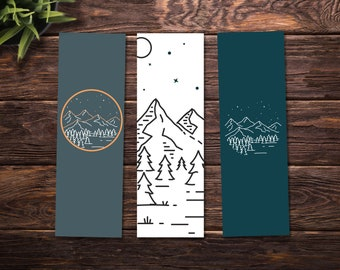 image regarding Printable Bookmark identify Printable bookmarks / Watercolor bookmarks fastened of 3 Etsy