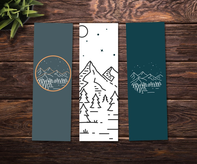 picture about Bookmarks Printable titled Printable bookmarks / Character bookmarks / Printable character bookmarks / Character artwork bookmarks - Fast down load, preset of 3