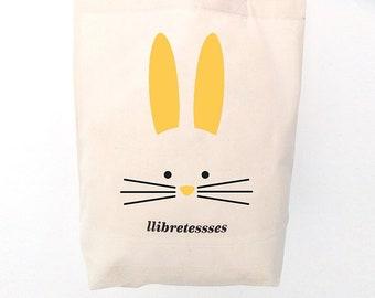 TEXTILE VINYL BAG - Yellow Rabbit