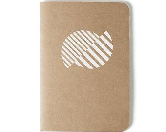 White Circle - Mediterrani Collection - Kraft Notebook - Cutting vinyl