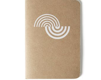 White Wave - Mediterrani Collection - Kraft Notebook - Cutting vinyl