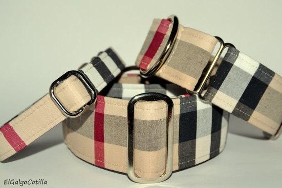 Style Burberry collier Martingale pour les galgos lévriers   Etsy dfe56d248f1
