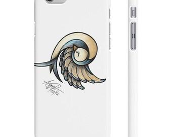 Sleepy Bird - White  - Iphone And Galaxy - Tattoo Inspired Art on Phone Case