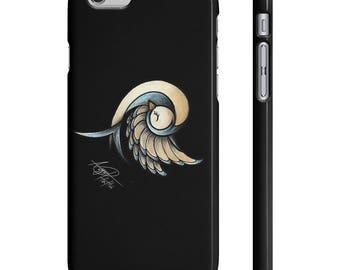 Sleepy Bird - Black - Iphone And Galaxy - Tattoo Inspired Art on Phone Case