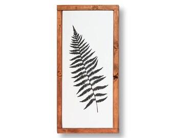 Fern Art Botanical Painting Home Decor, Fern, Leaf Painting, Fern Wall Art Black Illustration, Woodland Nature Minimalist, Minimalist Art