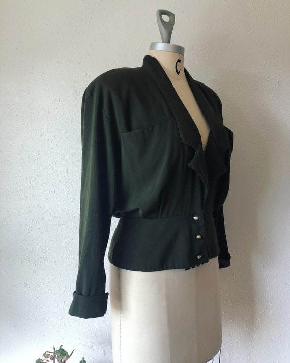 Vintage 1990's does 1930's juniper green jacket by