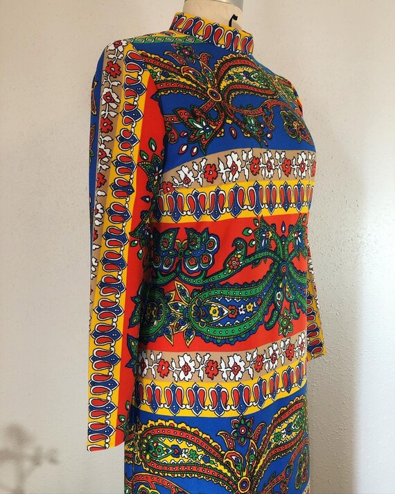 Vintage 1960's psychedelic paisley double knit moc