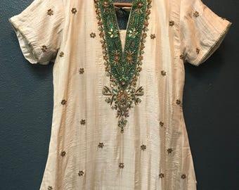 Stunning Embellished Indian tunic dress / kurta.