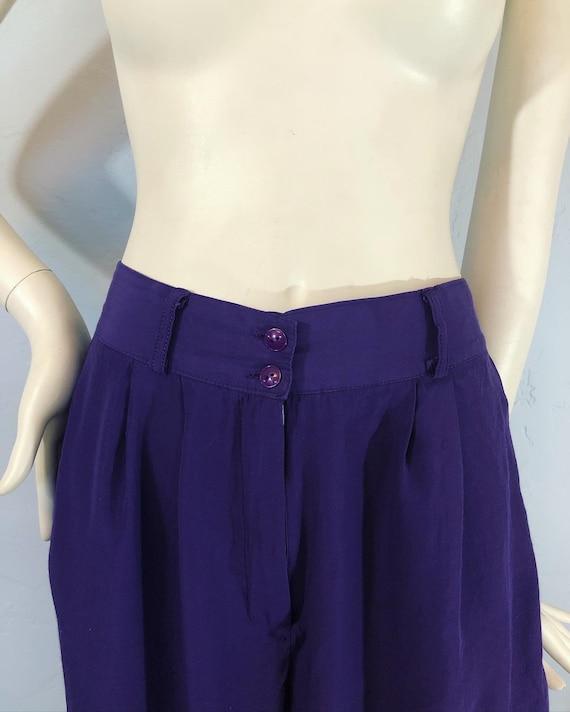 Vintage 1980's / 1990's purple grape rayon trouser