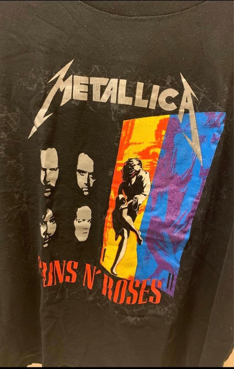 Metallica  Guns n Roses  Faith No More Concert T-shirt