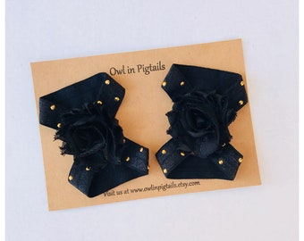Black & Gold Baby Barefoot Sandals/ Baby Sandals / Baby Girl / Barefoot Sandals