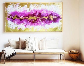 Acrylic Painting Abstract GOLD Hand Made Canvas Original online gallery wide paintings painting buy abstract art sale artworks wall art