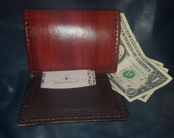 Leather tri fold wallet