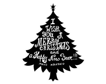 i wish you a merry christmas happy new year xoxo graphics svg eps png cdr ai pdf vector art clipart download digital cut print file cricut