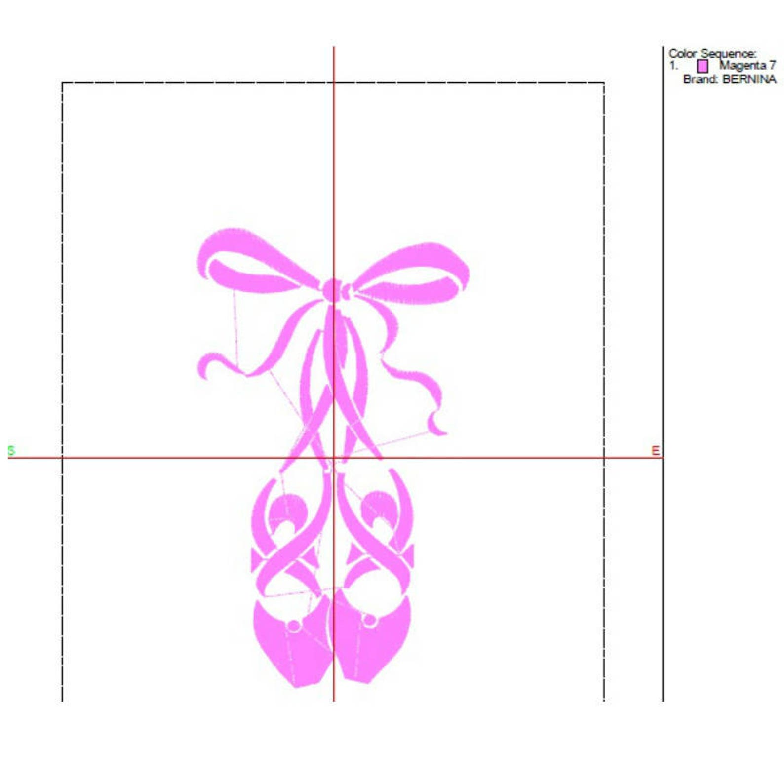 ballerina ballet shoes embroidery machine designs sport pattern digital instant design t-shirt towel dog design hoop file