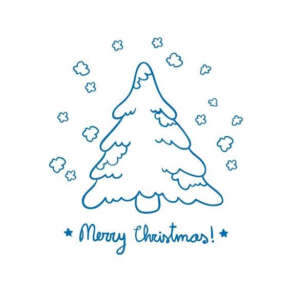 Frohe Weihnachtsbaum Karte Design Grafik SVG Dxf EPS Png Cdr | Etsy