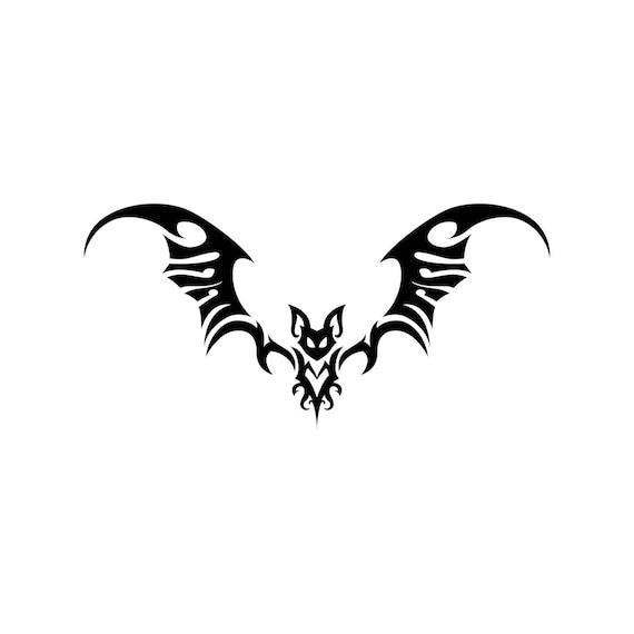 Tattoo Designs Pdf: Bat Tattoo Tribal Animal Graphics SVG EPS Png Cdr Ai Pdf