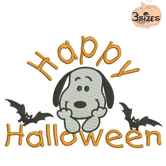 Glücklich Halloween Snoopy Maschine Stickmotive Pes Datei | Etsy