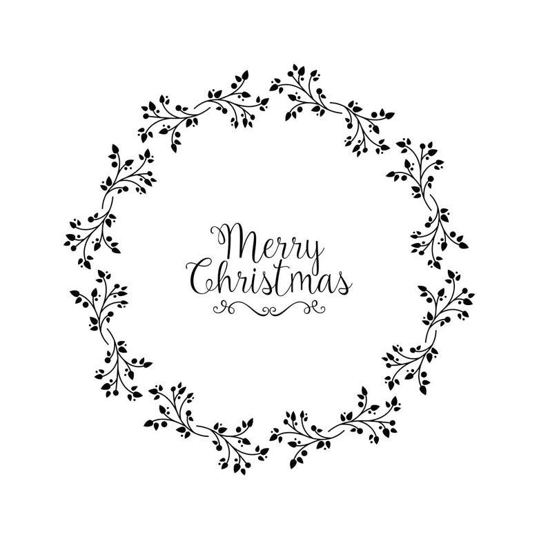 Frohe Weihnachten Rahmen.Frohe Weihnachten Rahmen Blume Grafiken Svg Dxf Eps Png Cdr Ai Pdf Vektor Art Clipart Sofortigen Download Digital Print Datei Cricut Schnitt