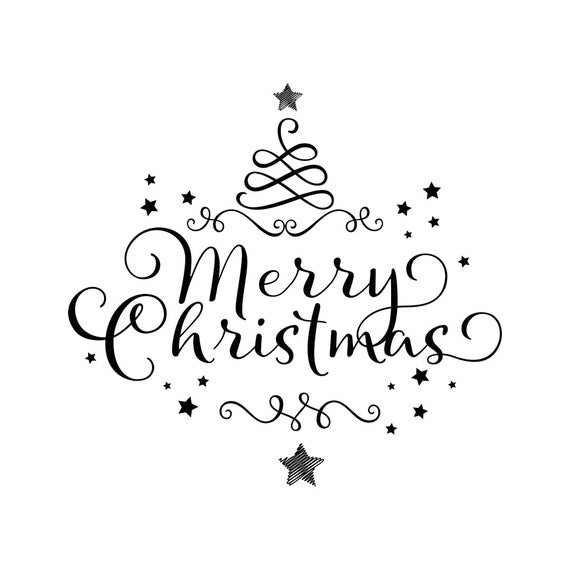Merry Christmas Ornament Tree Star Graphics Svg Dxf Eps Png Etsy