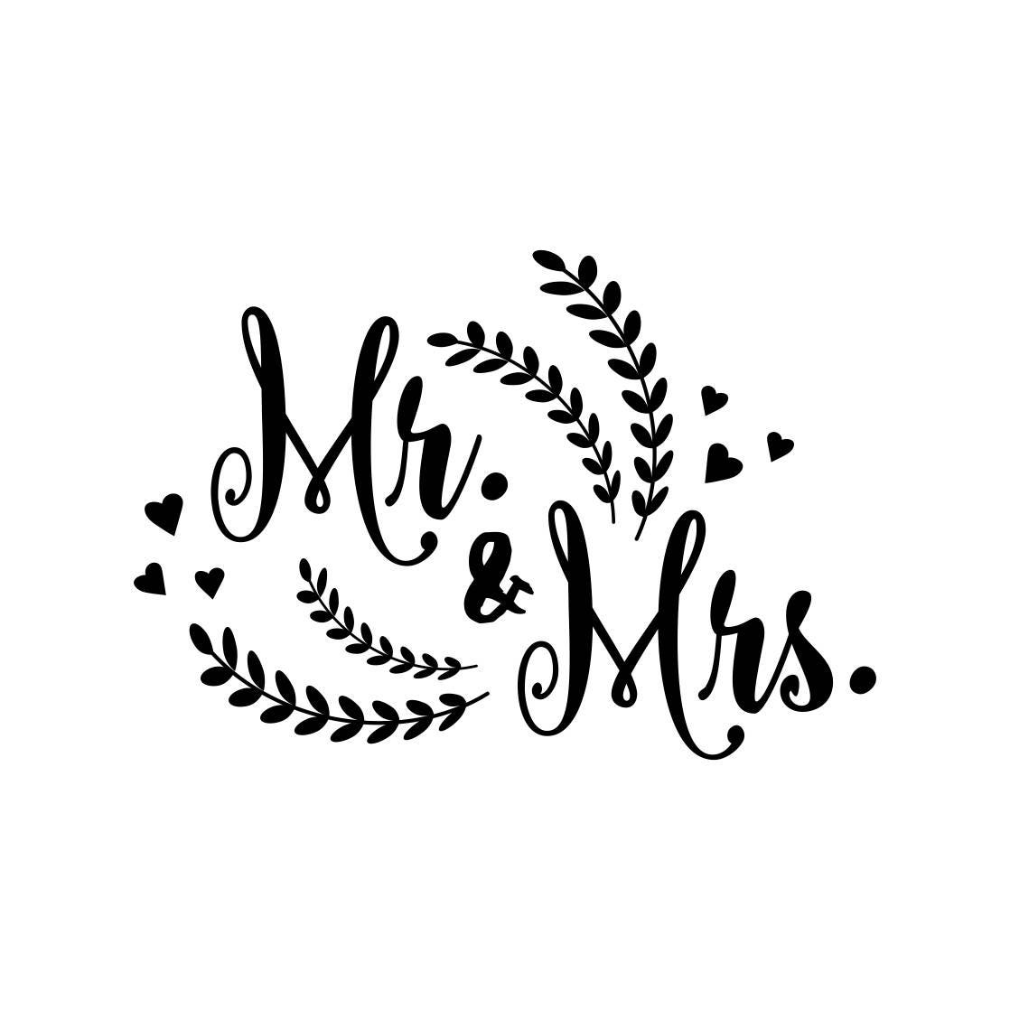 Wedding Graphics: Mr And Mrs Wedding Marriage Graphics SVG Dxf EPS Png Cdr
