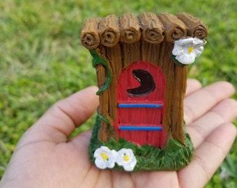 Miniature Outhouse - Fairy Garden Decor
