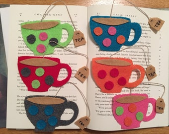 Tea Cup Bookmarks