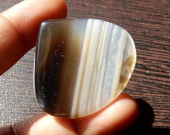 Black Banded Onyx Natural Cabochon 35x37x5 MM Size AAA++ Quality Heart Cabochon 52.80ct Amazing Quality Heart Shape Semi Precious Stone OX11