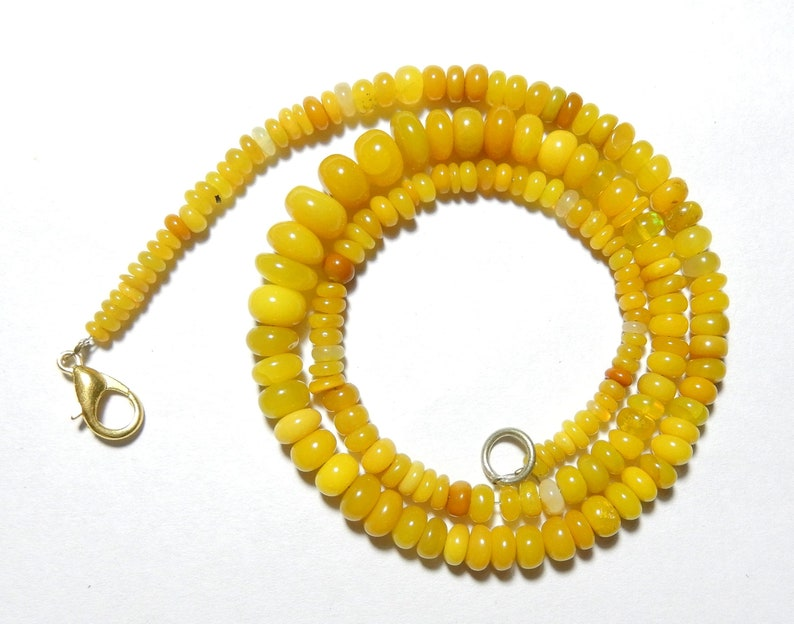 Beautiful Quality Yellow Ethiopian Opal Roundel Beads Necklace 3.5 to 7.5 MM Size AAA Quality 16inch Long Strand Welo Opal Beads AT47