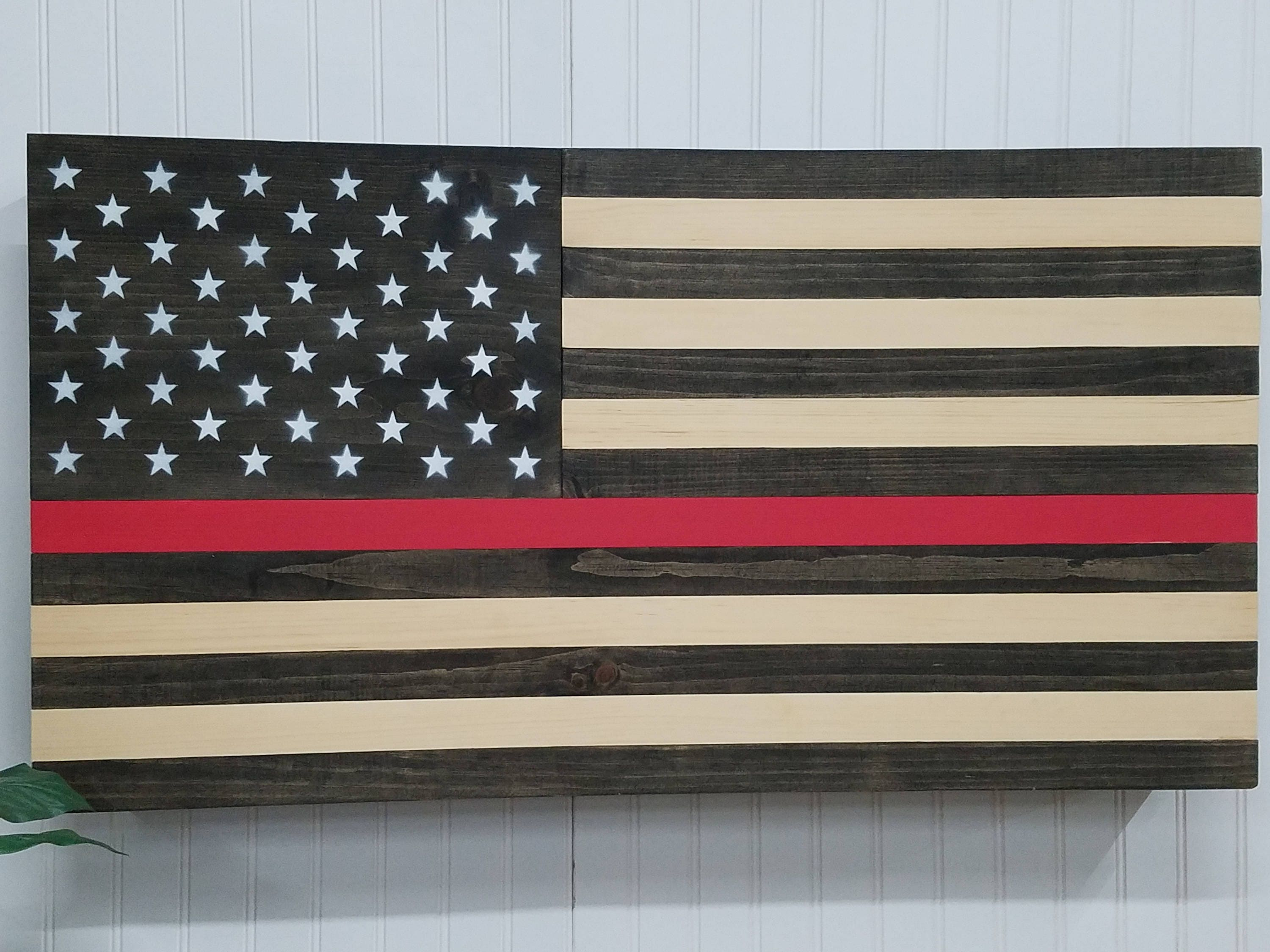 Wonderful Thin Red Line American flag concealment furniture compartment  QW48