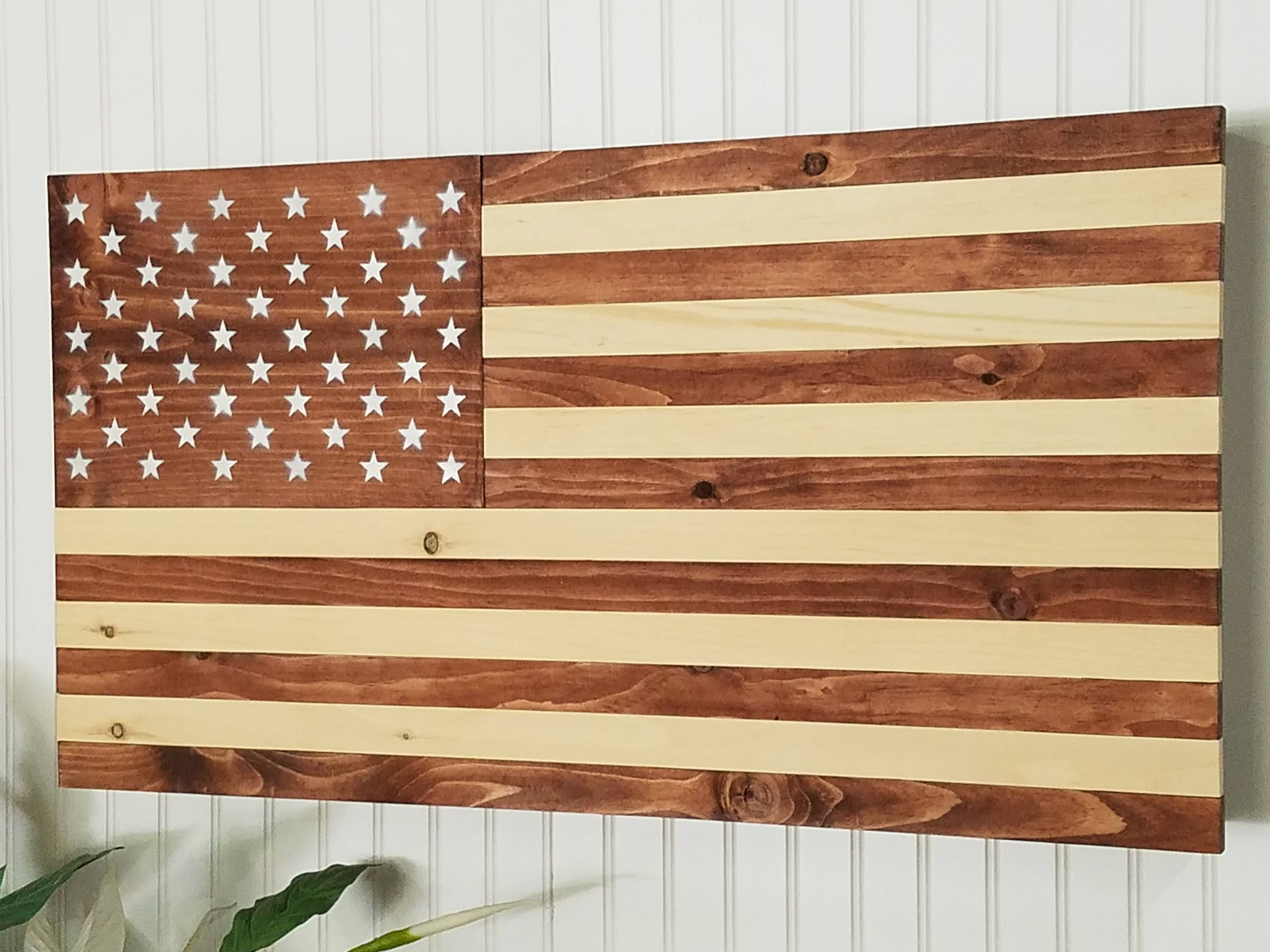 American flag wooden concealment furniture compartment cabinet ...