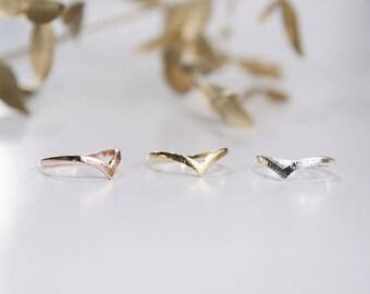 WISHBONE RING - V Shape Ring Rose Gold / Gold / Silver