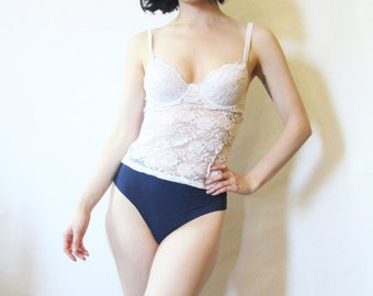 90s White Lace Camisole S
