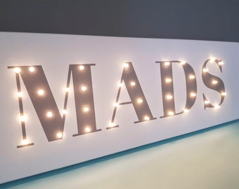 personalized name sign baby name sign baby name letters baby name banner customized sign sign nursery light up letters light up name