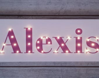 NAME Sign, Personalized, Name In Lights, Light Up Letters, Light Up Name,  Birthday Gift, Name With Led, Custom Marquee Sign, Kids Lamp, Name