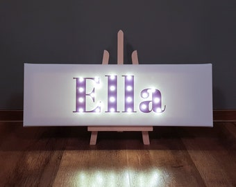 Your Name In Lights, Light Up Letters, Light Up Sign, Light Up Name, Your  Word In Lights, Name In Lights, Personalised, Marquee Sign, Purple