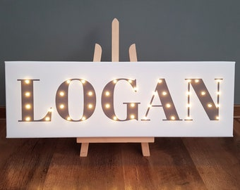 Your Name In Lights, Light Up Letters, Light Up Sign, Light Up Name, Your  Words In Lights, Name In Lights, Name With Led, Marquee Sign, Gray