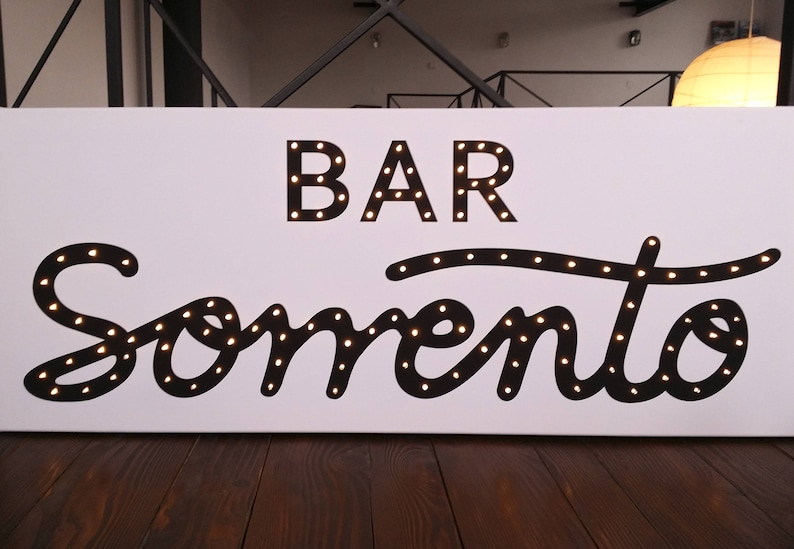 Light up BAR sign Bar sign personalized Marquee BAR sign