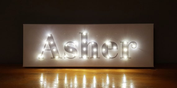 One of a kind gift Party decor Light up sign with name Birthday gift kids Light up letters Light up name Baby name banner Neon sign