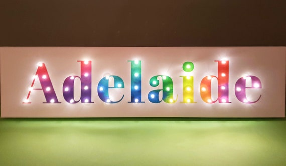 Neon light sign, Rainbow wall art, Rainbow neon sign, Girls bedroom wall decor, Name light, Rainbow baby, Light up letters, Led lights