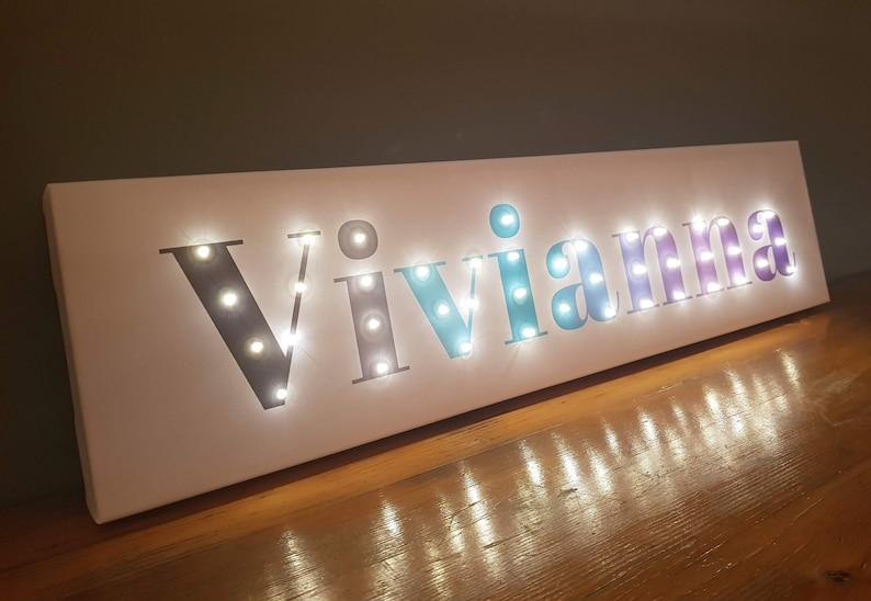 Light Up Letters Light Box Pastel Girls Room Decor Light Up Etsy